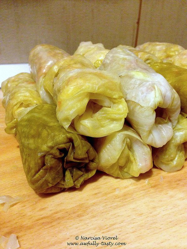 Sarmale cu foi de varza murata.  Stuffed cabbage leaves with pork minced meat. Very tasty dish, usually prepared for Christmas or Easter.