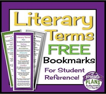 This simple product will make your life easier if your students often need to be reminded of the meanings of common literary terms!