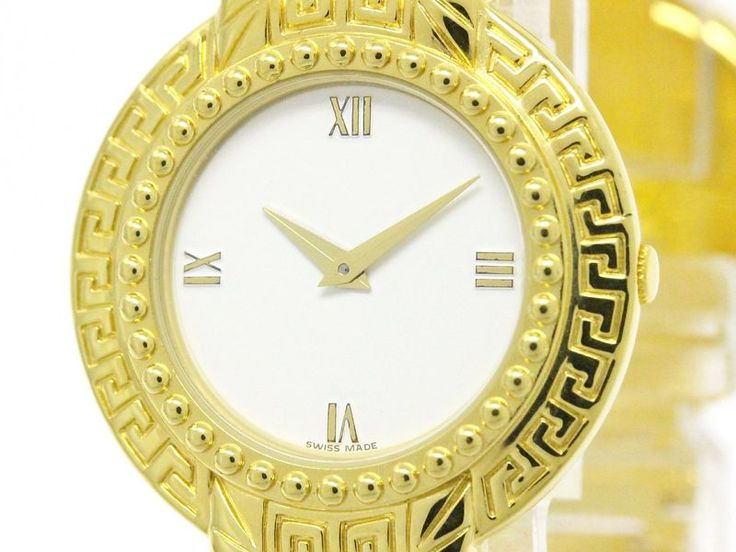 #VERSACE Medusa Coin Watch Gold Plated Quartz Unisex Watch 7008002 (BF101206): Authenticity guaranteed, free shipping worldwide & 14 days return policy. Shop more #preloved brand items at #eLADY: http://global.elady.com