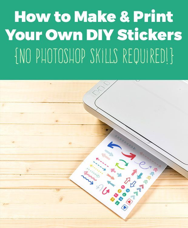 Learn how to make your own planner stickers and DIY sticker printables in this easy tutorial - {No Photoshop Skills Required!}