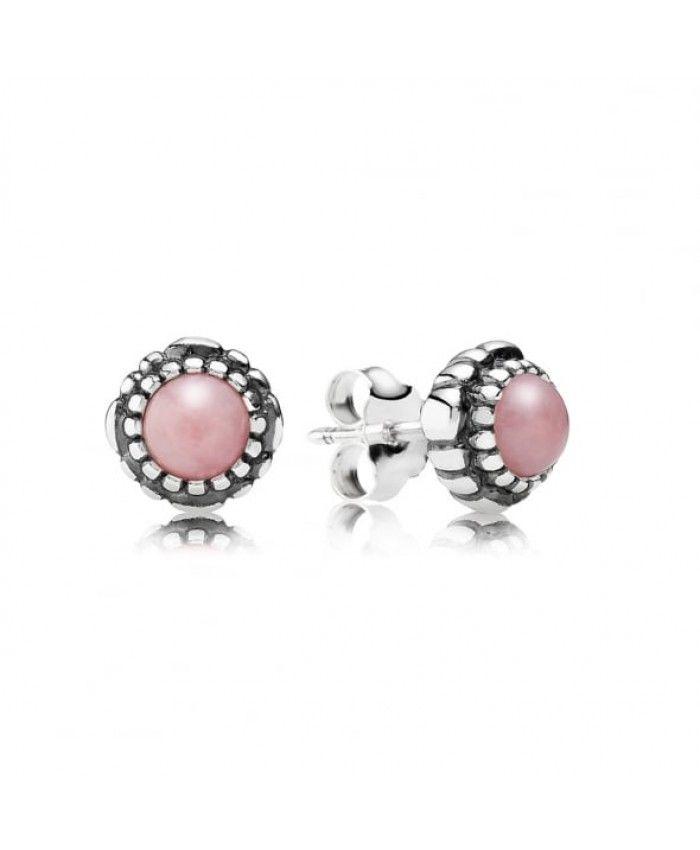 Pandora Pink October Birthstone Stud Earrings Uk Outlet