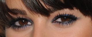 Navy eyeliner makes brown eyes pop