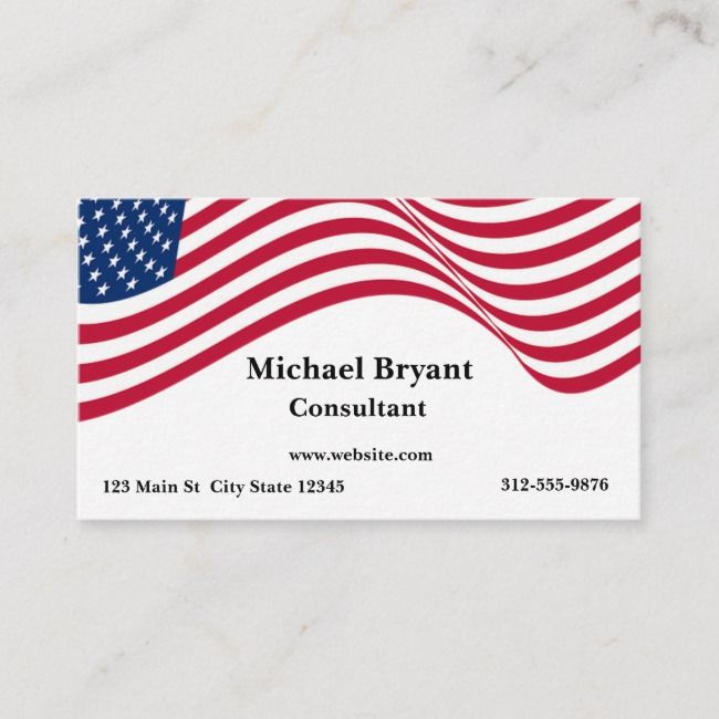 American Flag Business Card Zazzle Com American Flag Business Card Red Striped Business Card
