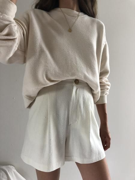 Raw Silk Oliver Shorts / Available in Multiple Colors – XS / Cream