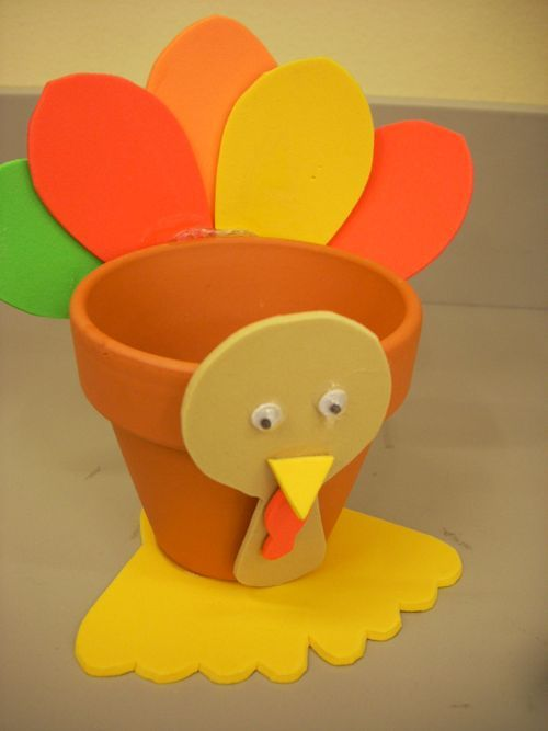 kids thanksgiving crafts | Simply trace the pattern pieces onto the foam sheets, cut out and glue ...