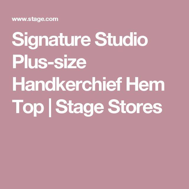 Signature Studio Plus-size Handkerchief Hem Top | Stage Stores