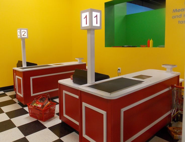 Indoor Playhouse - Grocery Checkout Counter