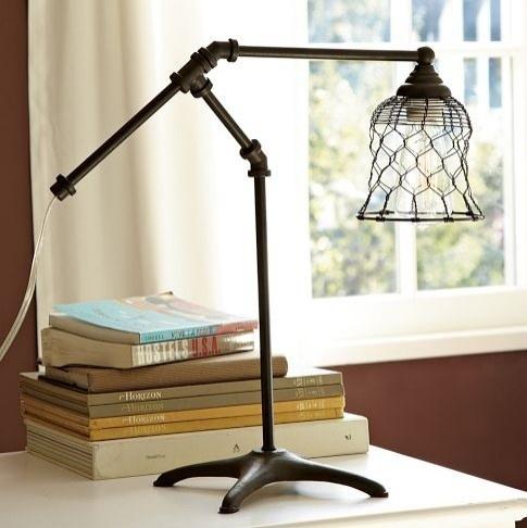 vintage desk lamp...love it!: Lamps, Lighting, Pbteen, Chicken Wire, Desks