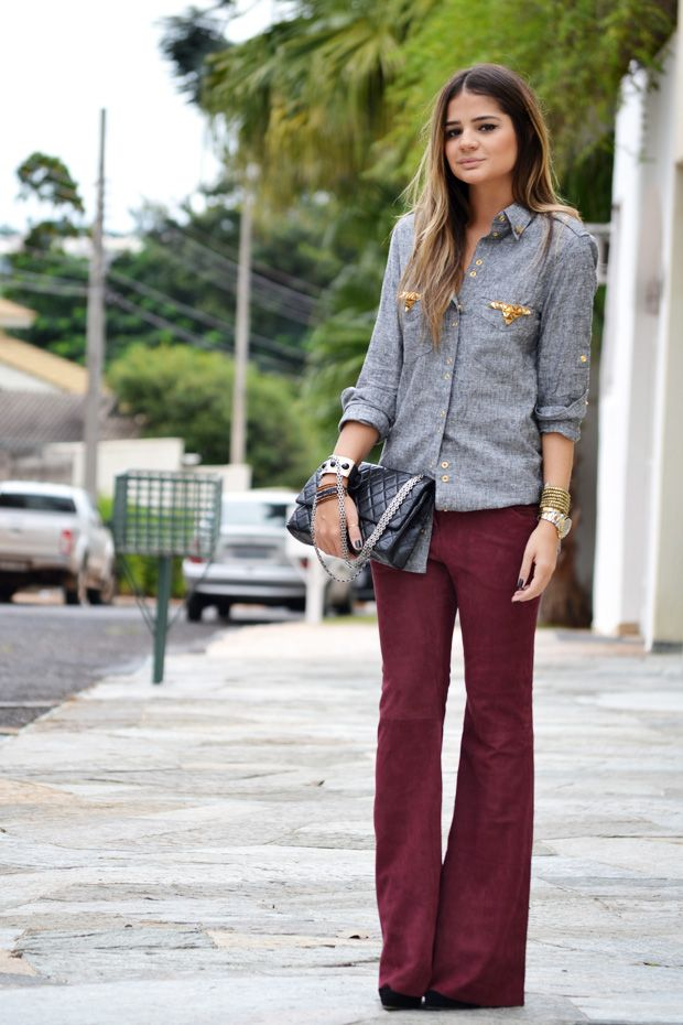 Burgundy Pants - Thassia Naves