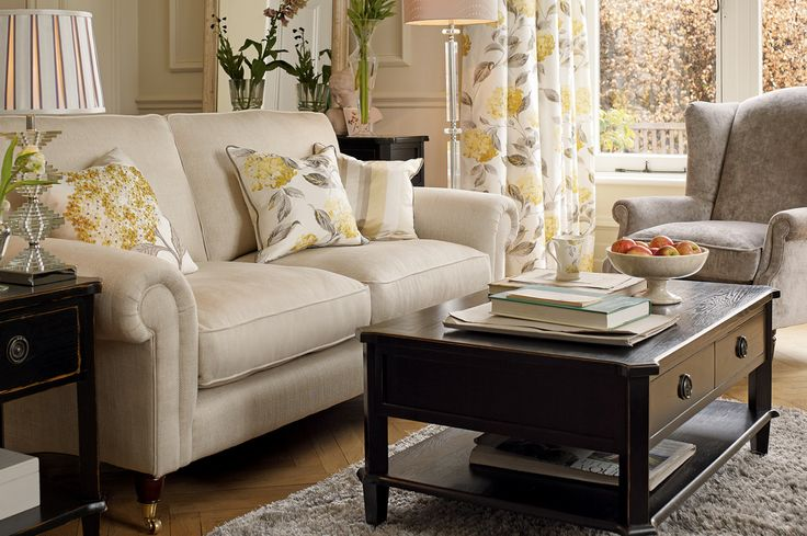 Kingston Upholstered 2 Seater Sofa - Laura Ashley made to order edwin natural