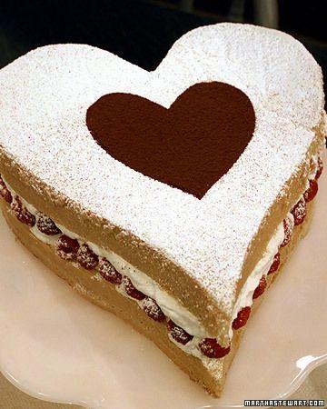 Perfect cake idea for Valentine's Day!