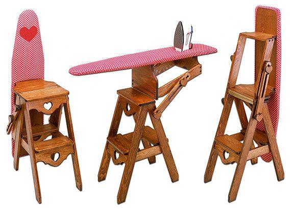 3in1 Platzwunder: Stuhl, Leiter, Bügelbrett in einem