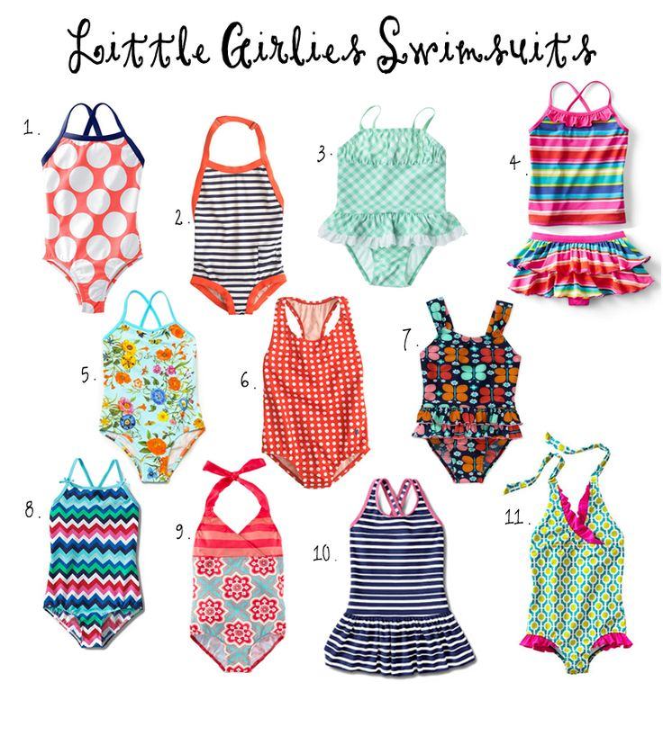 2014 Favorite Swimsuits for little girls | OKC Moms Blog #swimwear #girls #summer #fashion