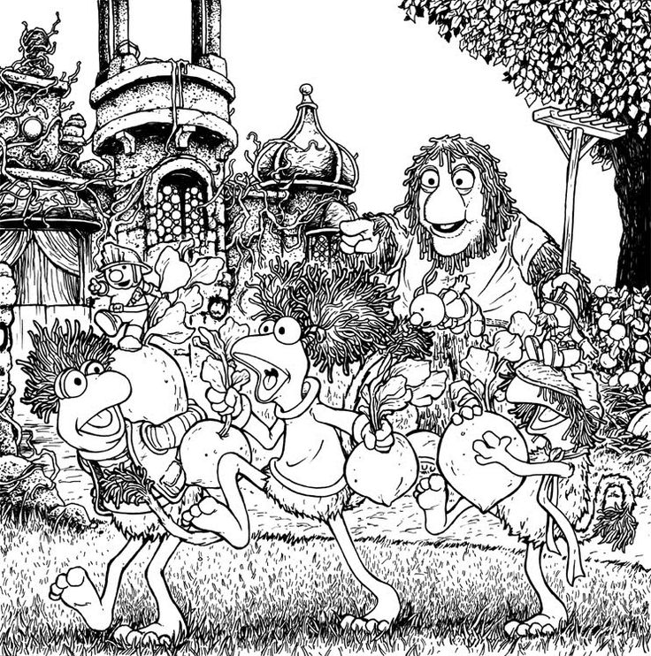 fragle rock coloring pages - photo#8