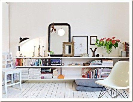 wit geverfde houten vloer