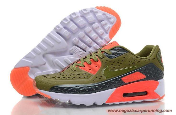 scarpe calcio bambino Nike Air Max 90 Ultra BR Oliver Verde Rosso Bianco  504658-293