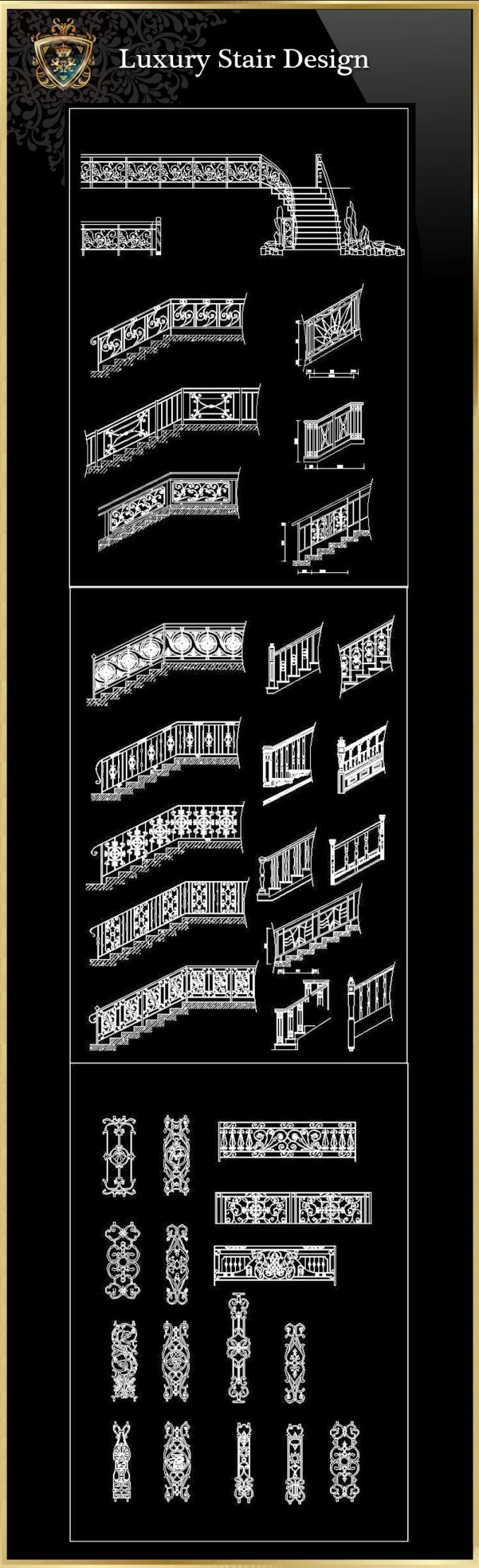 Luxus Treppen Design   FREE CAD BLOCKS & ZEICHNUNGEN DOWNLOAD CENTER