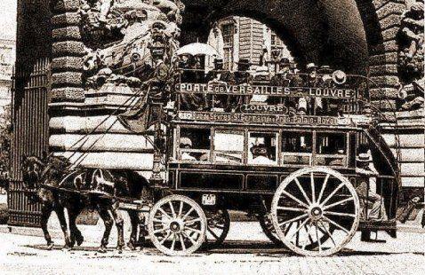 Tranports à chevaux Paris - Les transports communs en 1900