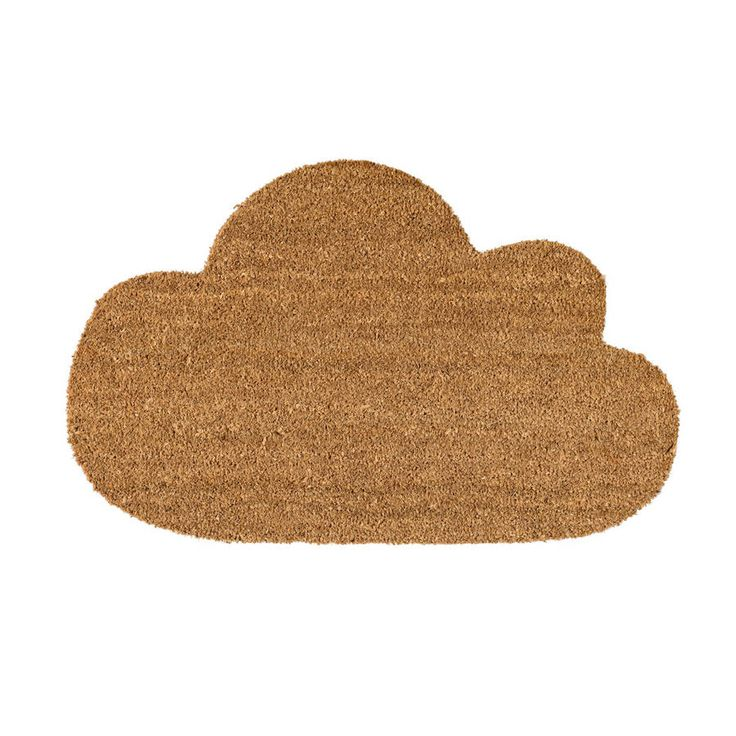 Coir door mat in a fun cloud shape.Fun cloud shaped door mat from Bloomingville makes a welcoming entrance at the front door and makes a stylish and bit more fabulous alternative to plain doormats out there! Made from natural coir with a rubber backing, these door mats are as hardwaring as they are good to look at. CoirL 80 cm