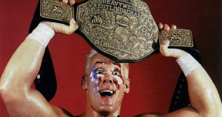 Blonde Sting After Beating Ric Flair For The WCW World Heavyweight Championship