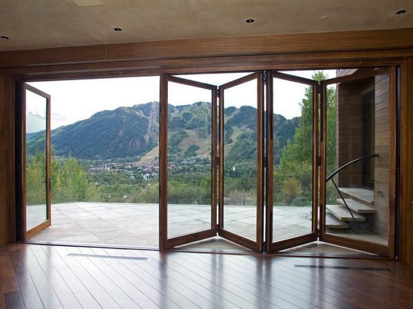 Exterior Folding Door Folding Patio Doors Style - I'd definitely rather have it facing the ocean :)