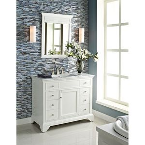 Gallery One Fairmont Designs Framingham Vanity Polar White Bathroom Vanities Only HMS Stores