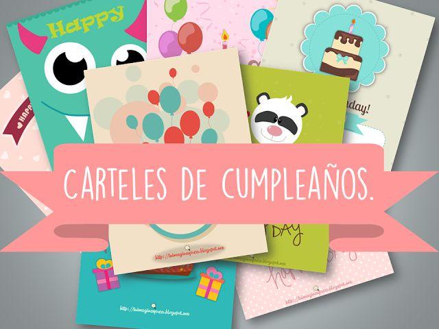 imagina y crea tu mismo: Carteles de Feliz cumpleaños.