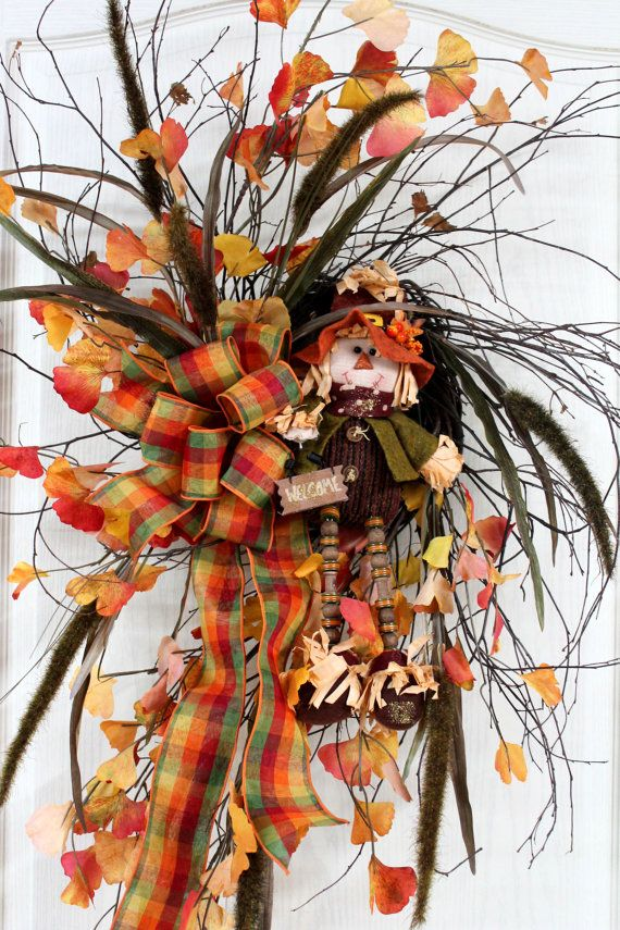 Fall Front Door Wreath Beautiful Twig Wreath By FloralsFromHome, $138.00