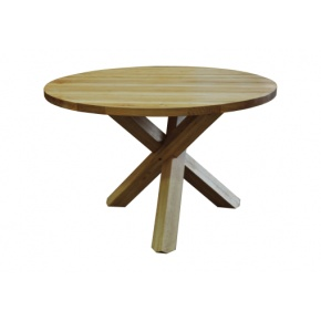 Contemporary Solid Oak QPRT12 Fixed Round Table  www.easyfurn.co.uk
