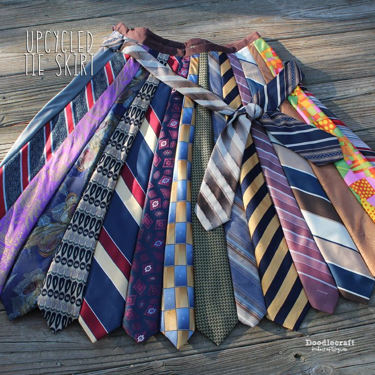 Happy Father's Day!  Here's a tutorial on my favorite 'father inspired' skirt!  After all, dads get tons of ties for Father's day...an...