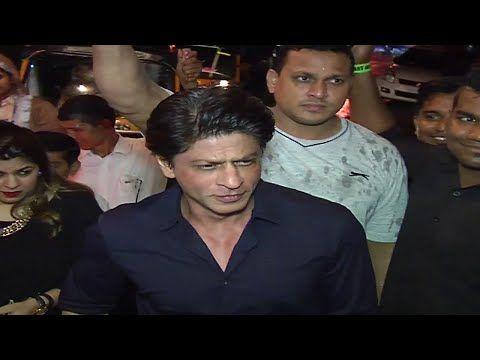 Shahrukh Khan spotted at director Anand L Rai's 45th birthday bash.