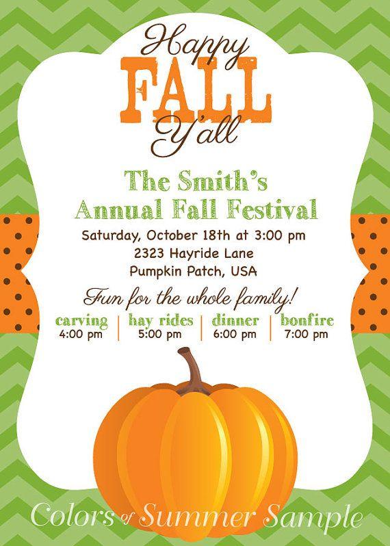 happy fall yall pumpkin invitation fall invite open