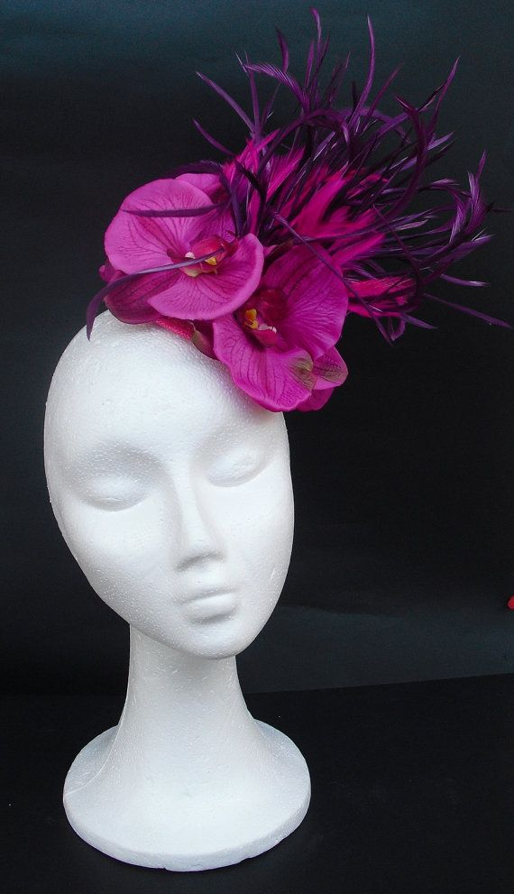 Fascinator hat headpiece /  Magenta fascinator / by TocameMika, $145.00