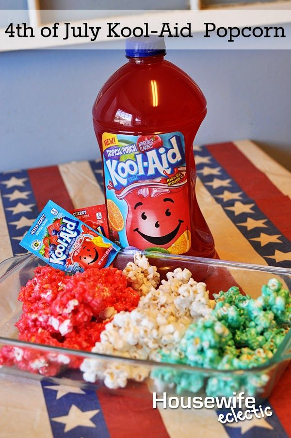Housewife Eclectic: 4th of July Kool-Aid Fruit Drink Popcorn #KoolOff #Cbias #Shop