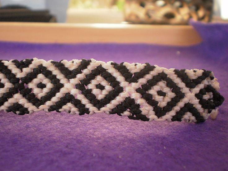friendship bracelet. black & white.