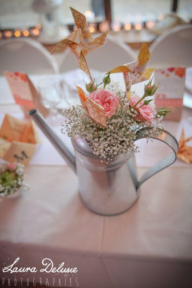Pour un mariage de princesse : deco table champetre