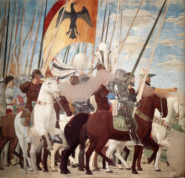 La Leggenda della Vera Croce - affresco by Piero della Francesca - Chiesa di San Francesco, Arezzo