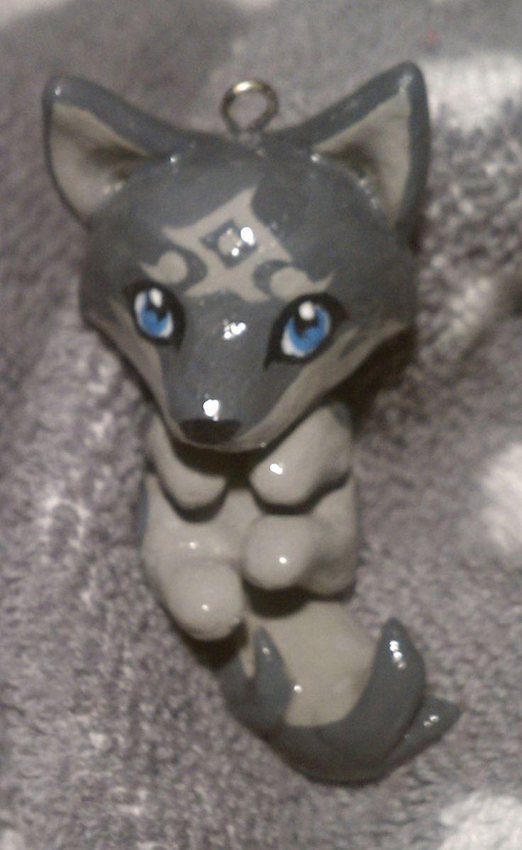 Chibi Wolf Link by TheCuriousQuail.deviantart.com on @deviantART