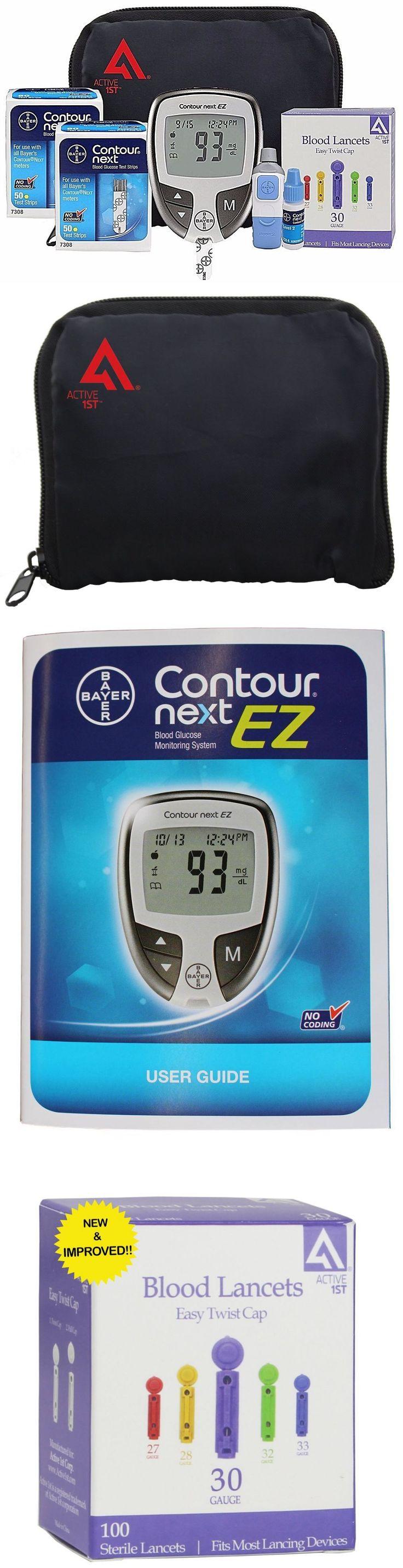 Monitoring Kits: Diabetes Testing Kit 100 Test Strips 100 Lancets Lancing Device Logbook Manual BUY IT NOW ONLY: $58.97