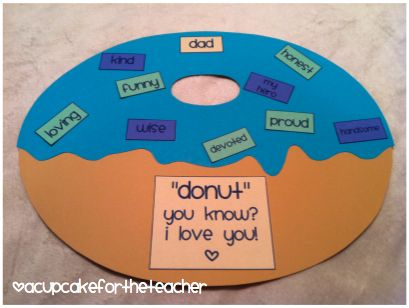 """""""donut"""" you know? i love you! - father's day i love you with a cherry on top - mother's day"""