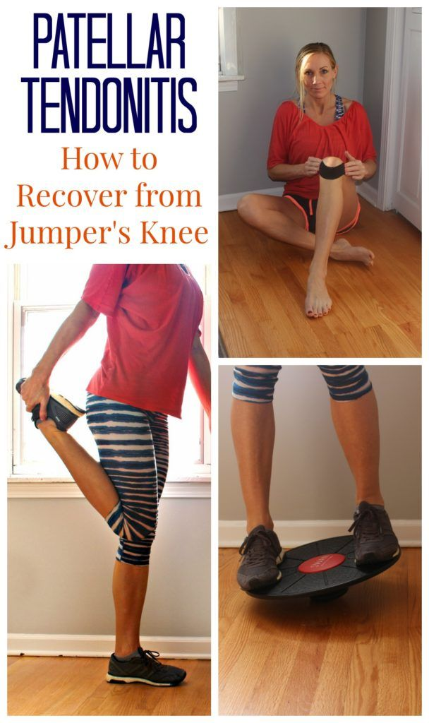 How to Recover From Jumper's Knee (My Story with Patellar Tendonitis) Physical Therapy you can do at home to heal and prevent this sports injury common to runners.