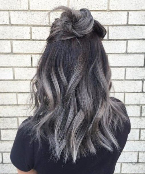 Hair accessory: hun grey hair wavy hair ombre hair hair dye