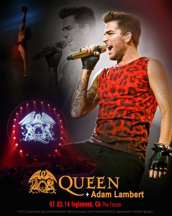 LAMBERTLUST: QUEEN + ADAM LAMBERT TOUR 2014 - YOUTUBE PLAYLISTS