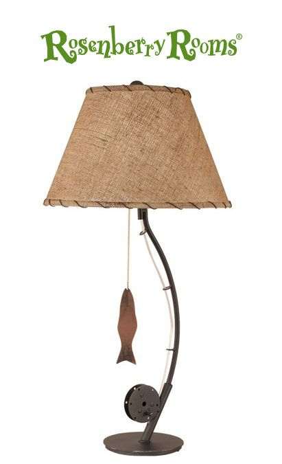 A great fit for a fishing themed bedroom, the Fly Fishing Pole Table Lamp will look wonderful in a little boy's room.   Available in lots of distressed and rustic finishes you are sure to create a great looking piece for your little one!