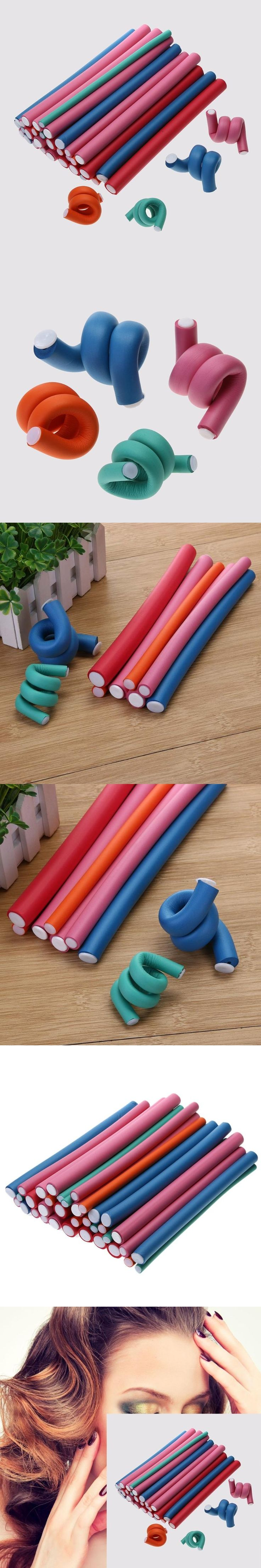 36Pcs/set Soft Hair Curler DIY Spongia Foam Twist Curls Flexible Curling Rod Hair Roller Curler Makers Styling Tool Random