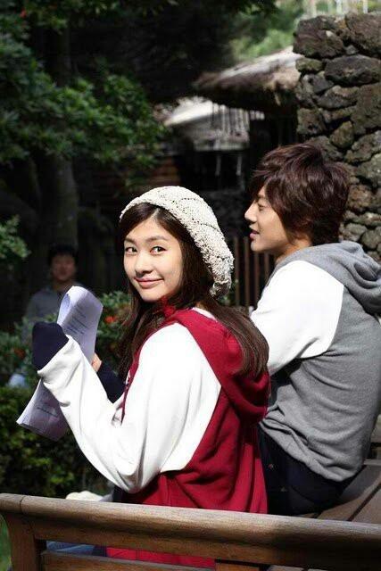 Playful Kiss - Kim Hyun Joong as Baek Seung Jo ♥ Jung So Min as Oh Ha Ni BTS