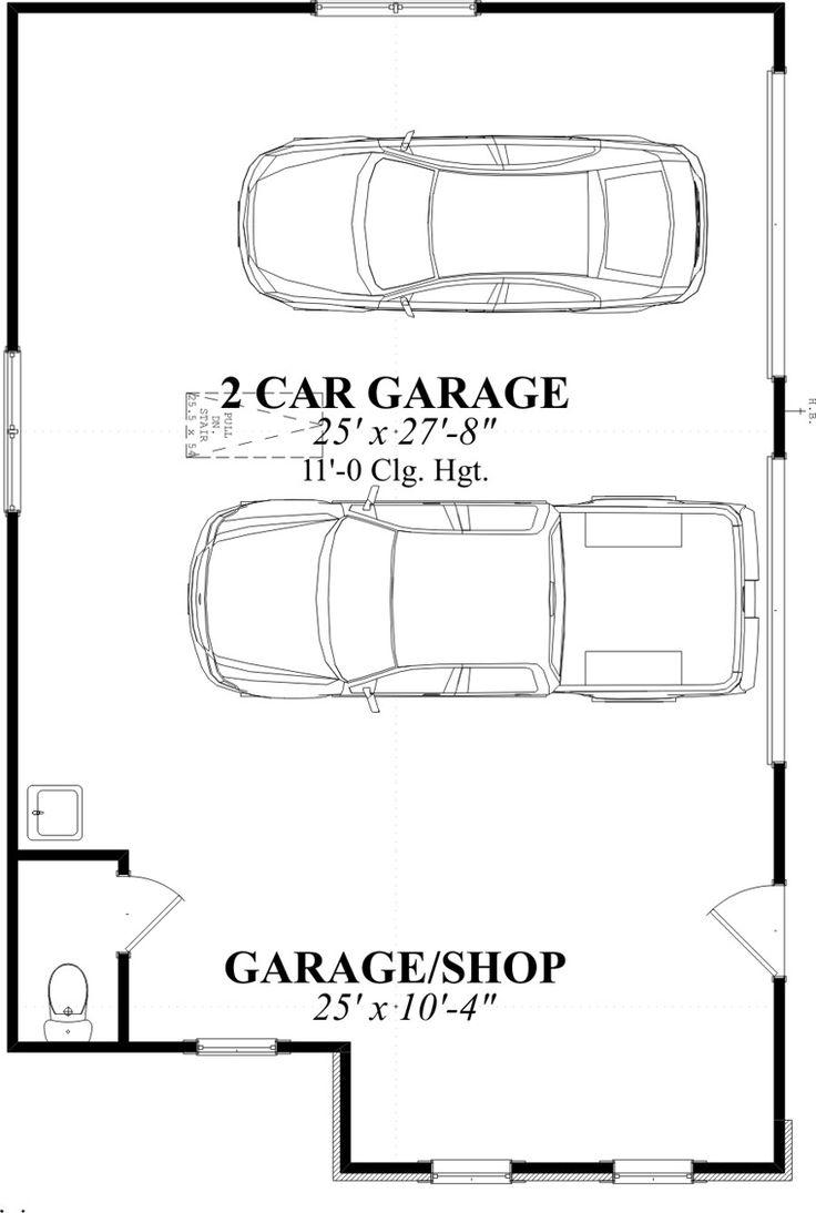 Farmhouse Style 2 Car Garage Plan Number 78859 Garage