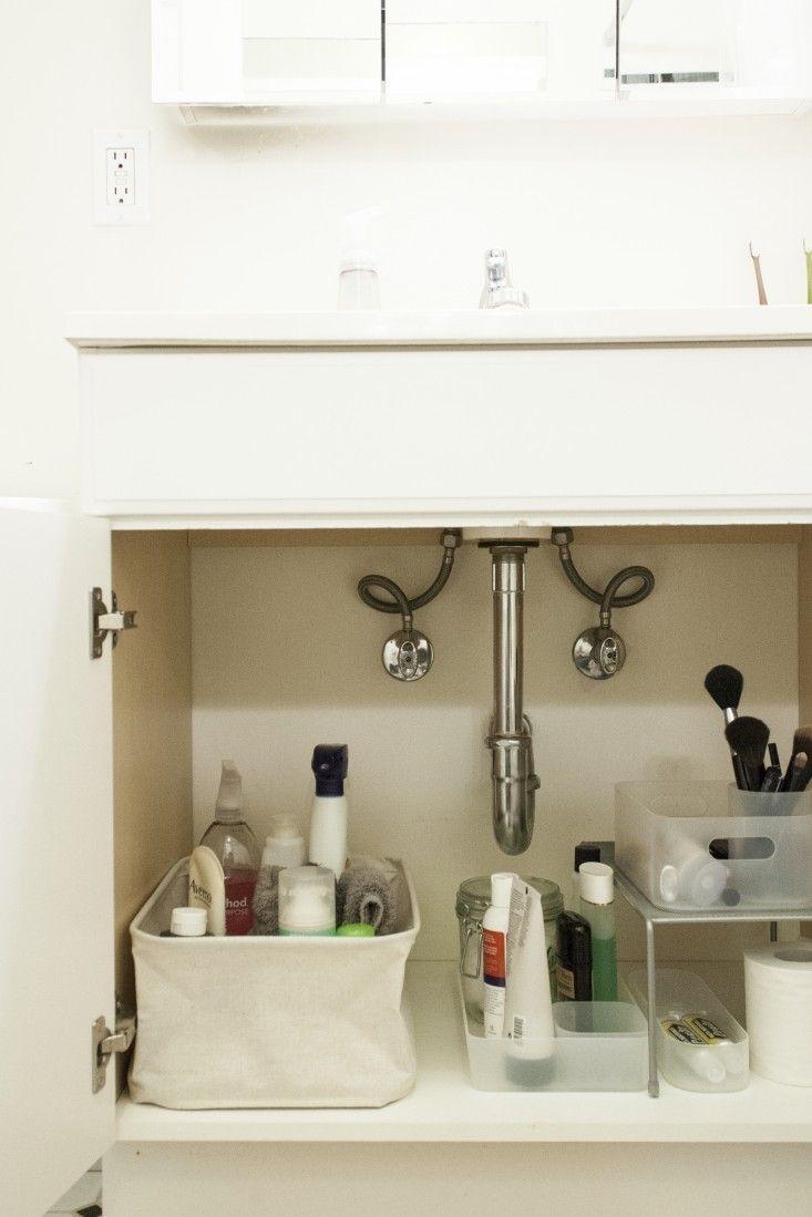 diy bathroom sink organization five tips remodelista. 17 best ideas about Bathroom Sink Organization on Pinterest