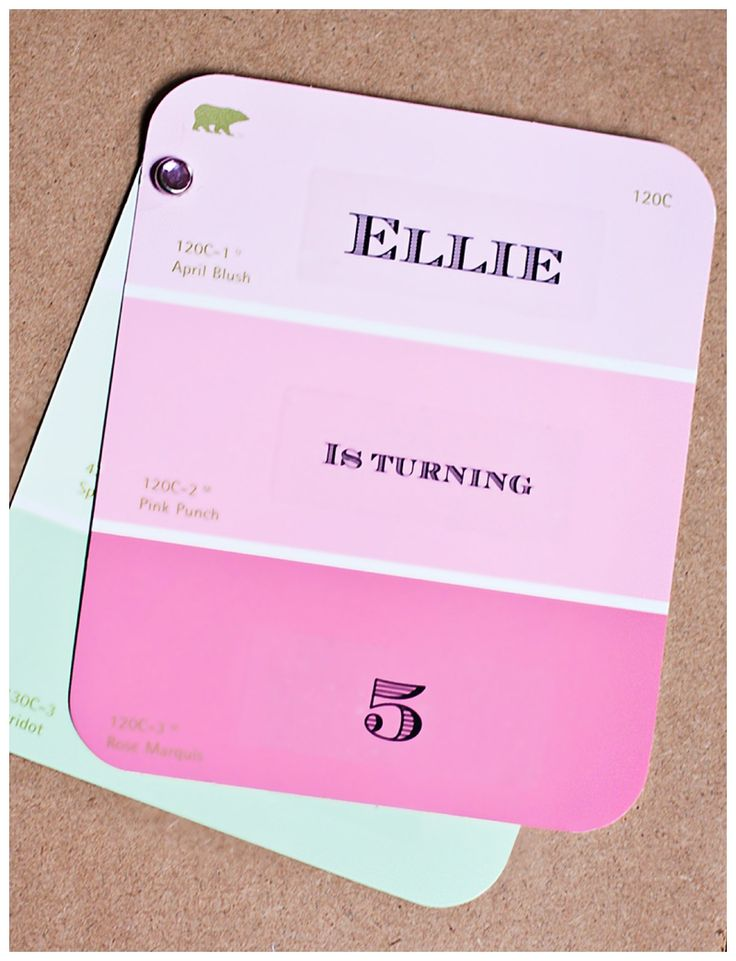 Pastel Themed Party Invitations