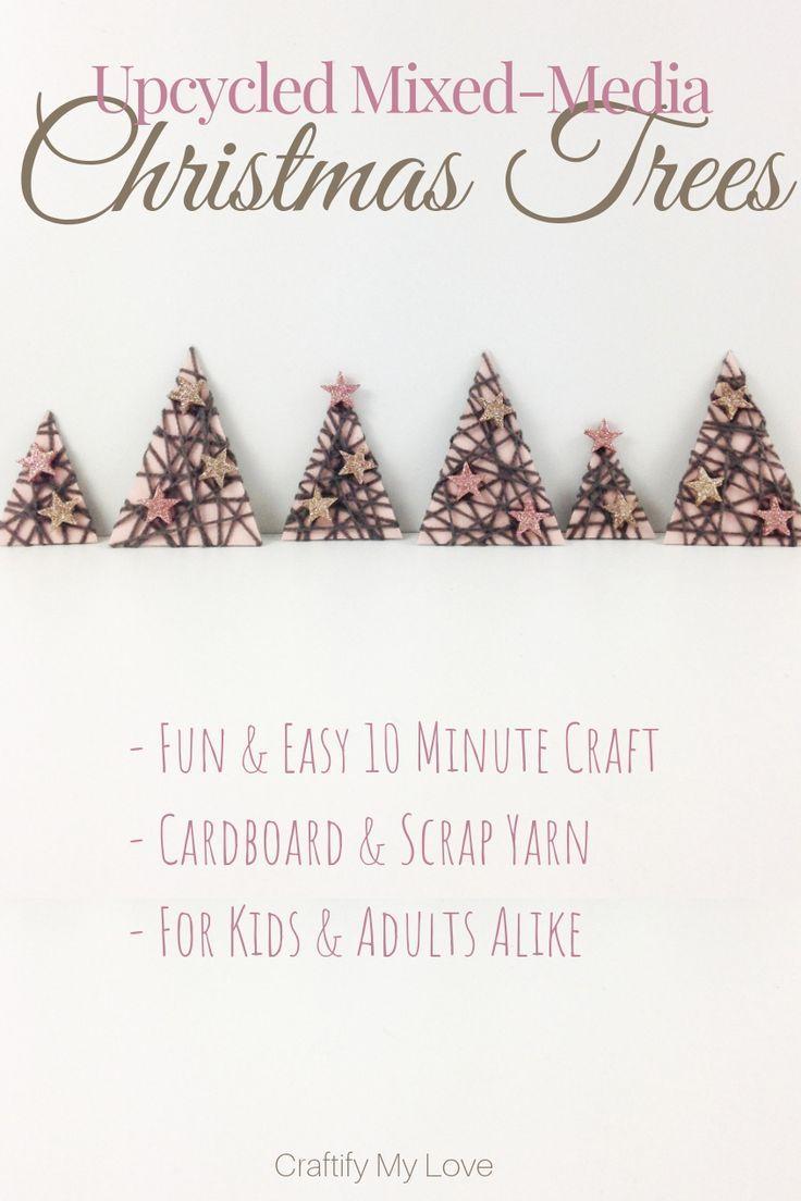 Mixed-Media Christmas Trees
